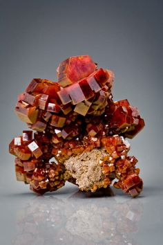 Vanadinite, Mibladen, Morocco / Mineral Friends <3