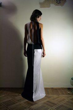 Retro Evening Dress White and Black 1930's Flapper by ElenaMassari, $730.00