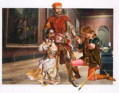 The Costume of Painter - W.H.Hunt 080914  2008  oil on vinyl, vinyl on photograph  154 x 197cm