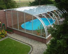 Polycarbonate covering for the pool  #greenhouse #climapod #cover #pool