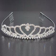 9.84$  Watch here - http://viouo.justgood.pw/vig/item.php?t=3nem2jr56531 - Wedding Bride Crystal Rhinestones Heart-shaped Crown Hair Tiara