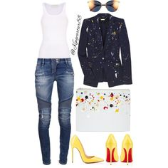 Picasso by jusgram88 on Polyvore featuring polyvore fashion style Faith Connexion Alexander McQueen Balmain Christian Louboutin Maison Margiela Fendi