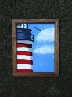 Lighthouse painting on Etsy