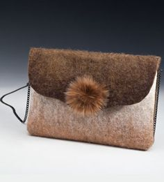 Hand bags and clutch bags figured inlay with sterling silver, metal, gem stones and crystals. Felt Clutch, Felt Purse, Clutch Bag, Textile Fiber Art, Art Bag, Handmade Felt, Felt Art, Wool Felt, Felted Wool