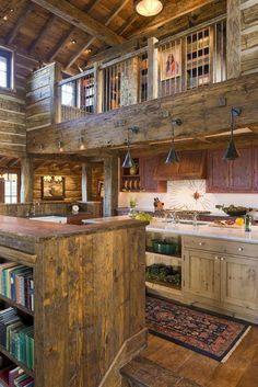 Kitchen log cabin idea