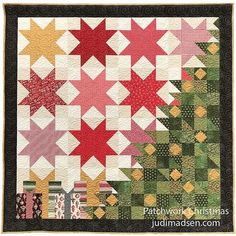 Hi Everyone!  I am so excited to tell you about my newest pattern, just in time for the Holidays - Patchwork Christmas! This quilt was a ...