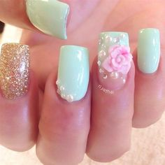 37 Cute 3D Nail Art Bows