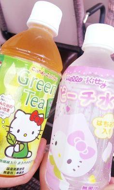 Hello Kitty drinks #japanese
