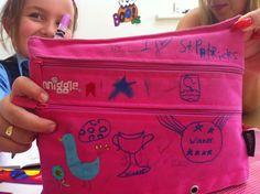 Lily Mae's pencil case Diaper Bag, Pencil, Lily, Football, Athletic, Bags, Soccer, Handbags, Futbol