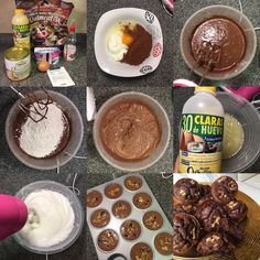 """Muffins choco-nueces """"fit"""""""