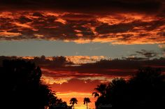 Sky is Split!     sunset from Scottsdale on 10-11-12