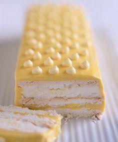 FROZEN PASSION FRUIT MERINGUE CAKE  http://www.epicurious.com/recipes/food/photo/Frozen-Passion-Fruit-Meringue-Cake-108002