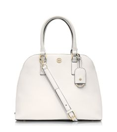 The Tory Burch Robinson dome satchel: The epitome of understated chic.