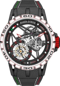 Roger Dubuis Excalibur Italdesign Edition watch - straight view - Perpetuelle