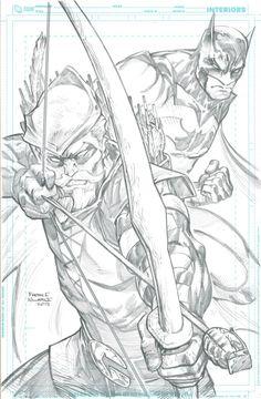 Batman and Green Arrow by Freddie Williams II