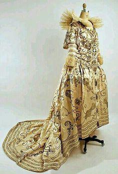Fancy dress costume by French designer Paul Poiret, circa 1898.