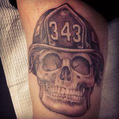 skull firefighter tattoos - Google Search