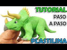 ✅ COMO HACER UN DINOSAURIO TRICERATOPS DE PLASTILINA ✅ MI MUNDO DE PLASTILINA - MY CLAY WORLD - YouTube