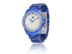Orologio Light Time con Strass in Policarbonato Blu - Accessori - I Gioielli del Mare