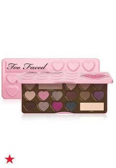 There's no two things a girl loves more than chocolate and makeup. The Too Faced Chocolate Bon Bons Eyeshadow Palette has 16 matte and shimmer shades to create everything from a natural makeup look to a sultry smokey eye. The best part? It smells like chocolate. Available now at macys.com.