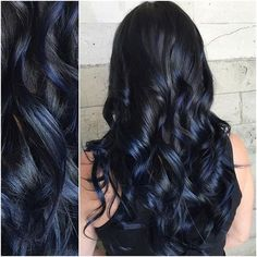 Moonlight shadows... Balayaged her hair to a level 7.5 and then put @pulpriothair Nightfall with a little Smoke on top for this moonlight shadowy effect. #pulpriothair #alexisbutterflyloft