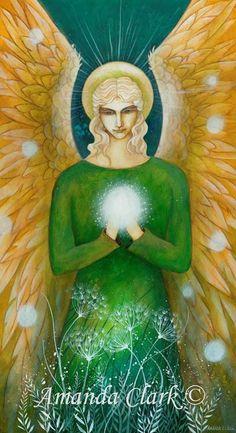 Archangel Raphael by Amanda Clark. by earthangelsarts on Etsy https://www.etsy.com/listing/231995924/archangel-raphael-by-amanda-clark