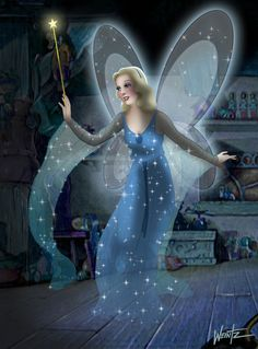 Disney's most beautiful fairy and the most forgotten, the Blue fairy from Pinocchio. The Blue Fairy ala Tenggren Walt Disney, Disney Magic, Disney Pixar, Disney Characters, Pinocchio, Keegan Connor Tracy, Disney Dream, Disney Love, Festa Monster High