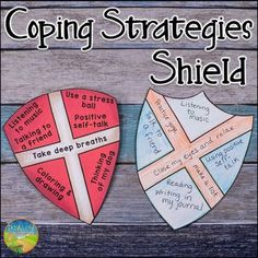 Use this craft and activity to teach coping strategies for anxiety, anger, stress, and other strong emotions. Kids and young adults will learn that coping strategies are a shield to help protect us from stress and strong emotions. Grief Activities, Group Therapy Activities, Counseling Activities, School Counseling, Health Activities, Coping Skills, Social Skills, Therapy Tools, Therapy Ideas