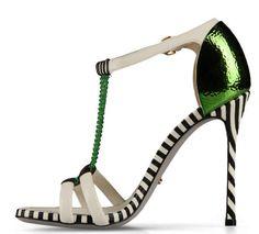 Sergio Rossi Pop Chain T Strap Mesh Sandals Spring 2013