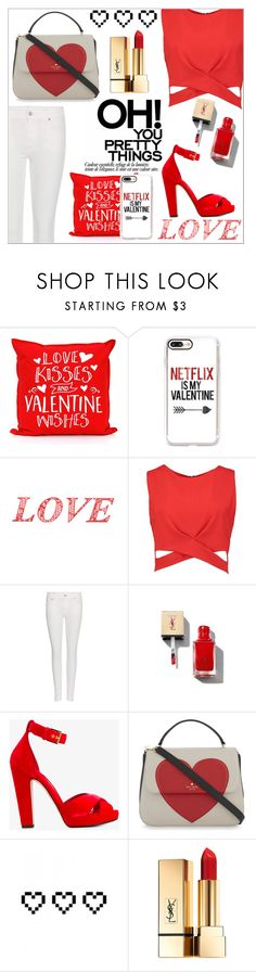 """""""Valentine"""" by makenziethedancer ❤ liked on Polyvore featuring Casetify, WALL, Boohoo, Polo Ralph Lauren, Yves Saint Laurent, Alexander McQueen, Kate Spade and Retrò"""