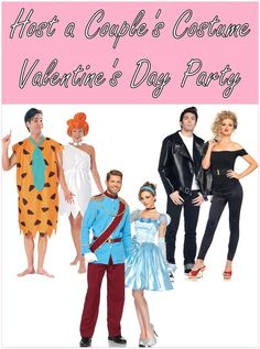 Pure Costumes Blog: Host a Famous Couples Costume Party on Valentine's Day #partyplanning #partyideas