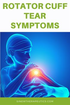 Pain Relief: Common symptoms of a rotator cuff tear are swellin. Shoulder Rehab, Sore Shoulder, Shoulder Pain Relief, Shoulder Muscles, Rotator Cuff Exercises, Rotator Cuff Tear, Torn Rotator Cuff Symptoms, Shoulder Tendonitis, Shoulder Injuries