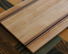 Walnut & Maple Wood Cutting Board or serving by SidetrackedinSD