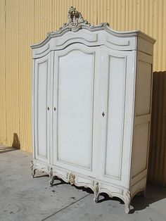 Antique Furniture French Antique Painted Louis XV Armoire Shabby Chic! from brookleberrysantiques on Ruby Lane