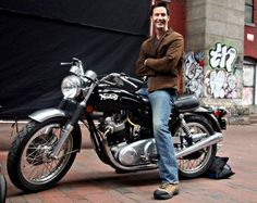 Anyone who thinks that Keanu Reeves is depressed has clearly never seen him on a motorcycle. Those are tears of joy, people, torque-inspired tears of joy.  ;) (chicfoo) keanu