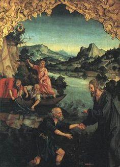 The Calling of St Peter KULMBACH, Hans Süss von 1514-16 Oil on wood, 130 x 100 cm Galleria degli Uffizi, Florence