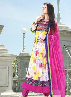 Aesthetic Multi Colour Embroidered Work Designer Suit
