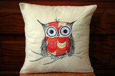 https://flic.kr/p/9tNfZQ | owl stitch pillow | Blogged at Maureen Cracknell Handmade