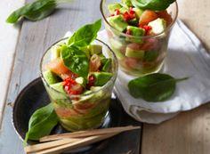 Avocado-Grapefruit-Salat mit Basilikum