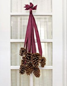 Rustic Pinecone Door Display  Wreath by NaturallyNatalie on Etsy, $20.00