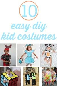 Try making the 10 easy DIY kid costumes using things you can find around the house.