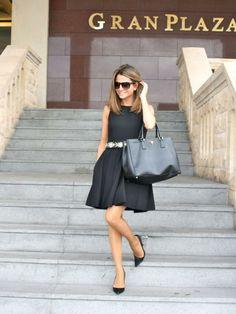 Shop this look on Kaleidoscope (dress, pumps, purse)  http://kalei.do/WOMMlKpCqk3Nvl3L