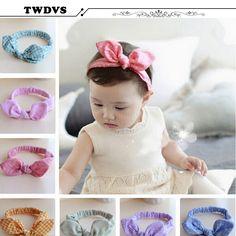 Rabbit Ear Headband Korea Style Headband Bow elastic Knot top baby hair accessories Baby Infant Headband Bow Headband w--141