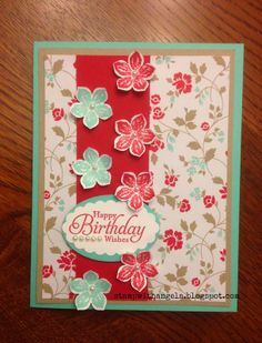 Simply Sketched, Petite Petals stamp sets Birthday Maybe with just solid colors, or some other stamps on the back