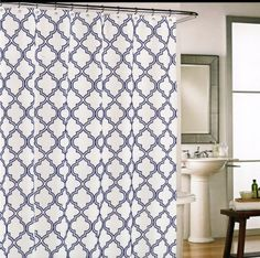 navy and white shower curtain. Extra Long Navy Blue Ikat Cotton Fabric Shower Curtain Size option s  72 x 75 85 95 If you need a special size please be in touch Pinterest