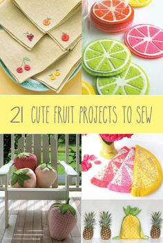 21 Fruit Themed Projects to Sew | Craft Gossip | Bloglovin'