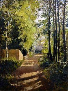 g α l l ℯ r y - Gustave Caillebotte | Allée sous-bois en Normandie, 1882