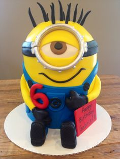 Despicable Me Minion Cake! (this could be changed to 21, instead of 6) just sayin'
