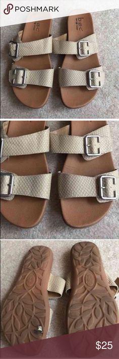 b.o.c. Born Concept size 7 gold strap sandals b.o.c. Born Concept size 7 gold strap sandals Born Shoes Sandals