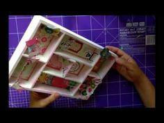 tutorial scrapbooking español. como alterar una caja de madera. - YouTube